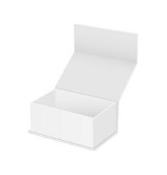 blank square box with opened lid mockup vector image