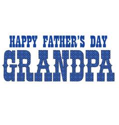 Blue bandana grandpa fathers day vector