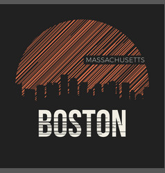 Boston city t-shirt design typography vector
