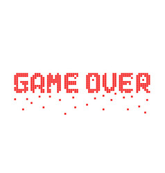 Breaking up pixel game over text vector