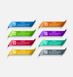 brochure tabs infographic elements vector image