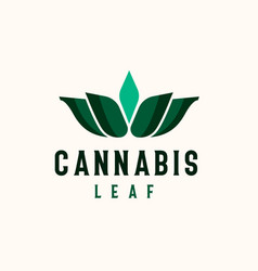 cannabis leaf logo template logo vector image