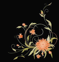 Card with a bunch decorative flower vector
