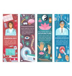 Cardiology neurology and otolaryngology medicine vector