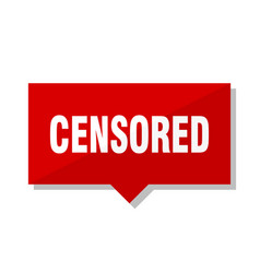 Censored red tag vector