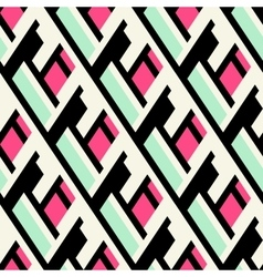 Color blocked bold pattern vector image