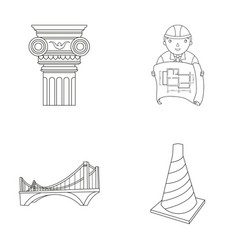 Column master with drawing bridge index cone vector