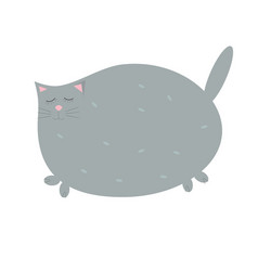 cute gray cat with eyes closed vector image