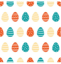 Decorated easter eggs pattern vector