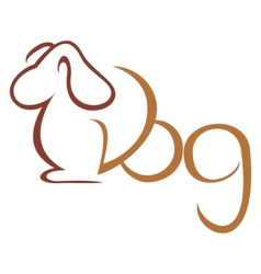Dog symbol vector image