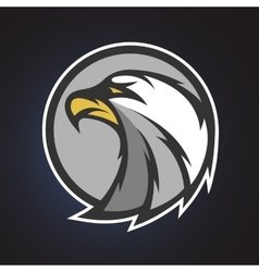 Eagle symbol emblem or logo vector