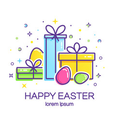 Easter logo vector