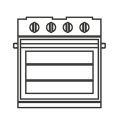 electric stove isolated icon design vector image