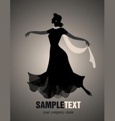 Elegant silhouettes november-03 vector