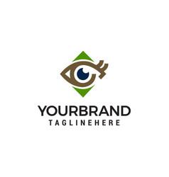 eye logo design concept template vector image