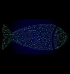 Fish polygonal frame mesh vector