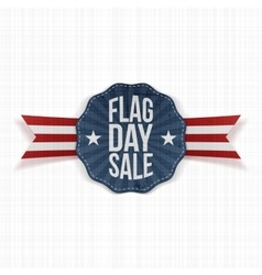 Flag Day Sale realistic Banner with Text vector image