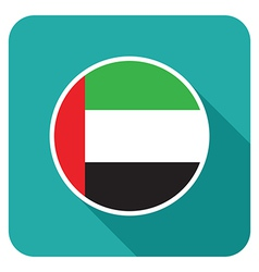 Flat uae icon vector