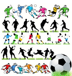 football players set vector image