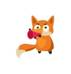 Fox Talking In Megaphone vector
