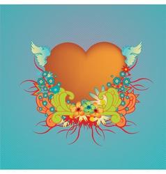 funky valentine design vector image