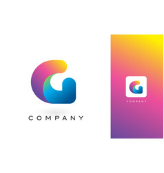 G logo letter with rainbow vibrant beautiful vector