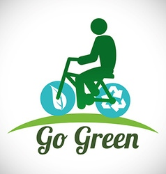 Go green design vector image