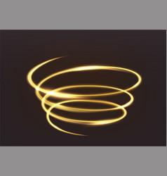 golden glowing light magic brilliance of vector image