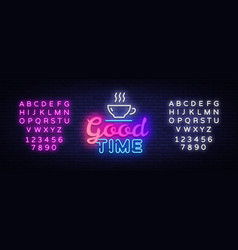 Good time neon text good times neon sign vector