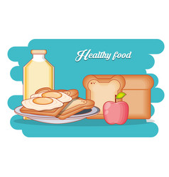 healthy food diet set products vector image