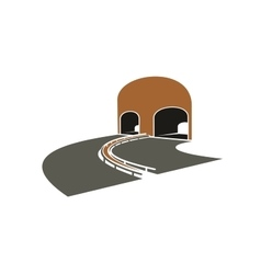 Highway lane turns to a tunnel vector