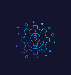Innovations fintech line icon vector
