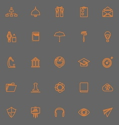 Job resume line icons orange color vector image