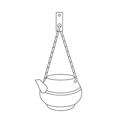 Kettle on a rope for washing vector
