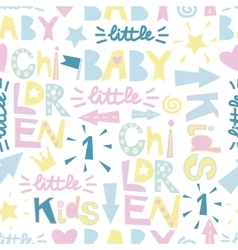 Kids seamless pattern with funny letters vector