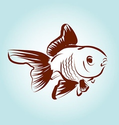 Line sketch fish vector