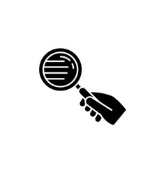 Magnify glass black glyph icon vector