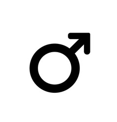 Male sign icon Internet button on white background vector