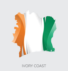 Map of ivory coast vector