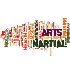martial arts and sexual health text background vector image