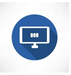 media set in the monitor icon vector image