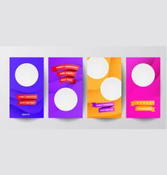 modern minimal set instagram social media vector image