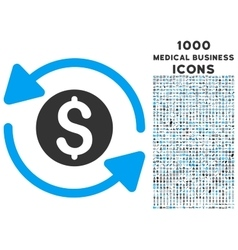 Money Turnover Icon with 1000 Medical Business vector image