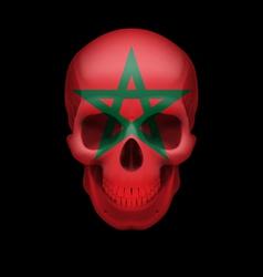 Moroccan flag skull vector