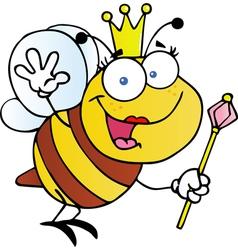 Queen Bee Cartoon Character vector