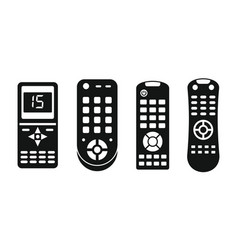 Remote control infrared icons set simple style vector