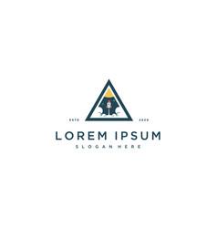 Rocket logo design template vector