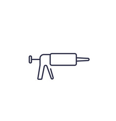 silicone caulk gun line icon vector image