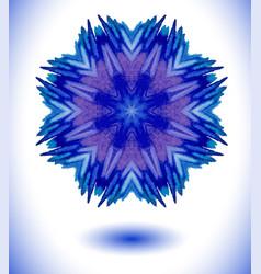 Snowflakes fractals art vector
