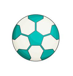 Soccer ball flat vector